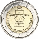 Belgia 2008 2 € Ihmisoikeuksien julistuksen 60. juhlavuosi UNC