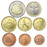 Italia 2002 1 c – 2 € Irtokolikot UNC