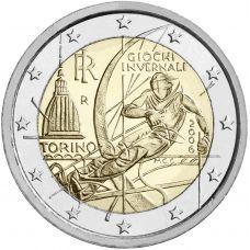 Italia 2006 2 € Torinon olympialaiset UNC