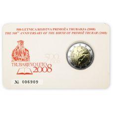 Slovenia 2008 2 € Primoz Trubar COINCARD