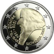 Slovenia 2008 2 € Primoz Trubar PROOF