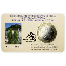 Slovenia 2008 3 € EU-puheenjohtajuus COINCARD