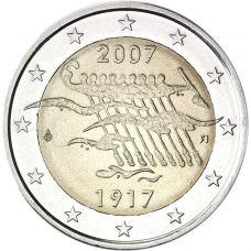 Suomi 2007 2 € Itsenäisyys 90 vuotta UNC