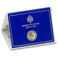 Vatikaani 2007 2 € Paavi Benedictus XVI:n 80-vuotispäivä UNC
