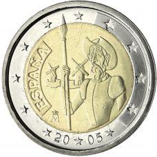 Espanja 2005 2 € Don Quijote UNC
