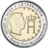 Luxemburg 2004 2 € Suurherttua Henri ja monogrammi UNC