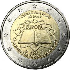 Alankomaat 2007 2 € Rooman sopimus UNC