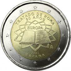 Espanja 2007 2 € Rooman sopimus UNC