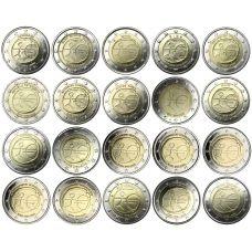 Euroopan Unioni 2009 2 € EMU kaikki maat 20 kpl UNC