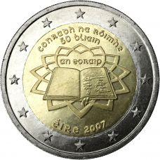 Irlanti 2007 2 € Rooman sopimus UNC