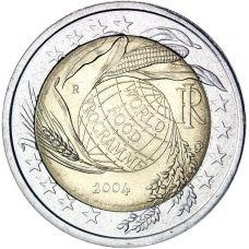 Italia 2004 2 € Maailman elintarvikeohjelma UNC