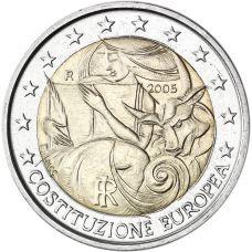 Italia 2005 2 € Euroopan perustuslakisopimuksen 1. vuosipäivä UNC