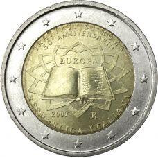 Italia 2007 2 € Rooman sopimus UNC