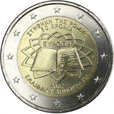 Kreikka 2007 2 € Rooman sopimus UNC