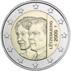 Luxemburg 2009 2 € Charlotte UNC