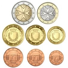 Malta 2008 1 c – 2 € Irtokolikot UNC