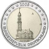 Saksa 2008 2 € Hampuri A UNC