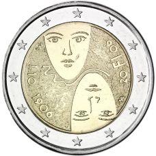 Suomi 2006 2 € Äänioikeuden 100-vuotisjuhlat UNC