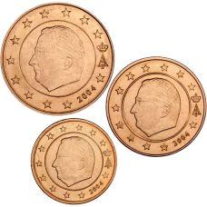 Belgia 2004 1 c, 2 c, 5 c Irtokolikot UNC