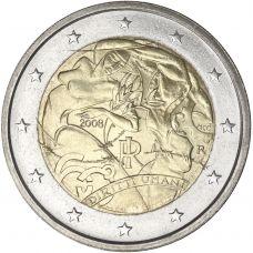 Italia 2008 2 € Ihmisoikeuksien julistuksen 60. juhlavuosi UNC
