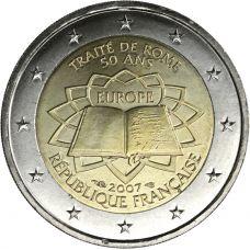 Ranska 2007 2 € Rooman sopimus UNC
