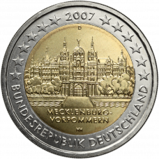 Saksa 2007 2 € Schwerinin linna D UNC