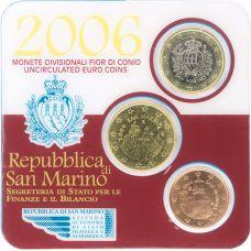 San Marino 2006 1 €, 50 c, 5 c Minikit