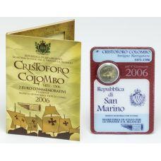 San Marino 2006 2 € Kolumbus UNC