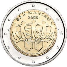 San Marino 2008 2 € Kulttuurien välinen vuoropuhelu UNC