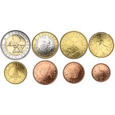 Slovenia 2007 1 c – 2 € Irtokolikot UNC