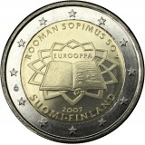 Suomi 2007 2 € Rooman sopimus UNC