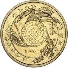 Italia 2004 2 € Maailman elintarvikeohjelma KULLATTU