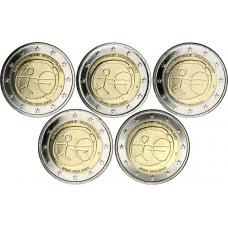 Saksa 2009 2 € EMU ADFGJ UNC