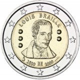 Belgia 2009 2 € Louis Braille UNC