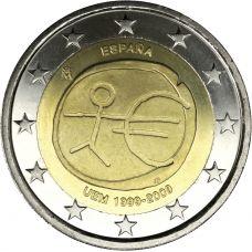 Espanja 2009 2 € EMU isot tähdet variantti #2 UNC