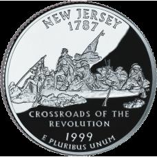 """USA 1999 $0,25 New Jersey """"D"""" UNC"""