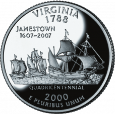 "USA 2000 $0,25 Virginia ""D"" UNC"