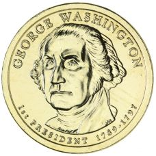 "USA 2007 $1 Presidentti George Washington ""D"" UNC"