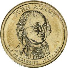 "USA 2007 $1 Presidentti John Adams ""D"" UNC"