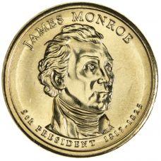 "USA 2008 $1 Presidentti James Monroe ""D"" UNC"