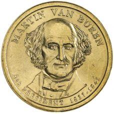 "USA 2008 $1 Presidentti Martin Van Buren ""D"" UNC"