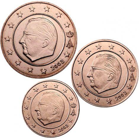Belgia 2003 1 c, 2 c, 5 c Irtokolikot UNC