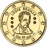 Belgia 2009 2 € Louis Braille KULLATTU
