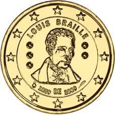 Belgia 2009 2 € Louis Braille KULLATTU