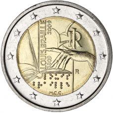 Italia 2009 2 € Louis Braille UNC