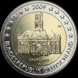 Saksa 2009 2 € Saarland A UNC