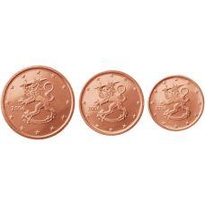 Suomi 2006 1 c, 2 c, 5 c Irtokolikot UNC