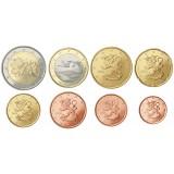 Suomi 2009 1 c – 2 € Irtokolikot UNC
