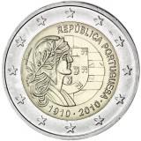 Portugali 2010 2 € Portugalin tasavalta 100 vuotta UNC