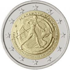 Kreikka 2010 2 € Marathon UNC